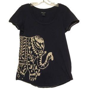 Lucky Brand Navy Blue Elephant Lightweight Shirt